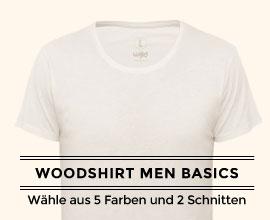 T-Shirt aus Holz - Basics Men