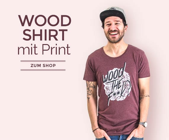 T-Shirts aus Holz für Männer