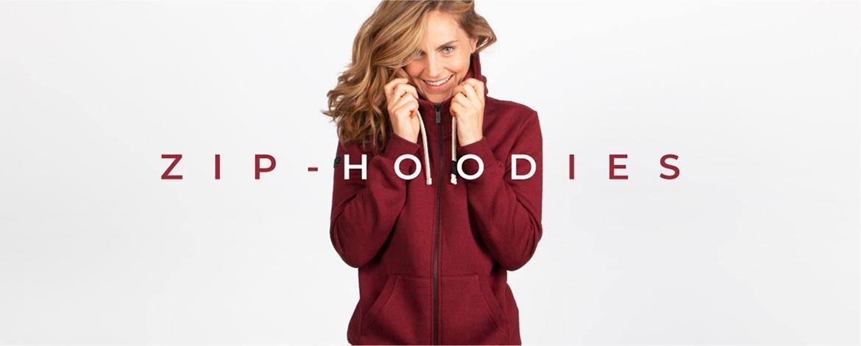 Zip-Hoodies aus Holz für Damen