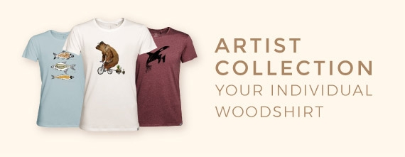 individual & ecofriendly t-shirts made of wood