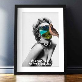 """gerahmtes Premium Poster """"Good Day"""" von Angelo Cicero"""