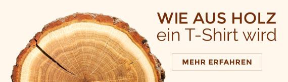 Fair Kleidung nachhaltig gefertigt - so entsteht ein T-Shirt aus Holz