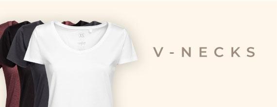 Damen T-Shirts aus Holz mit V-Ausschnitt