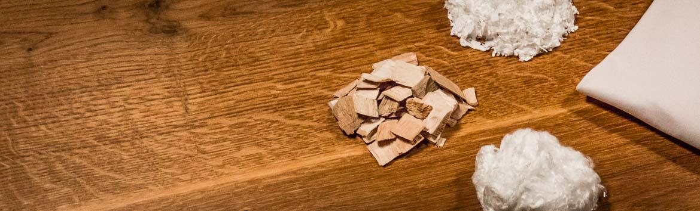 Holz ist ein idealer umweltfreundlicher Rohstoff aus dem Stoff mit einzigartigen Eigenschaften hergestellt werden kann